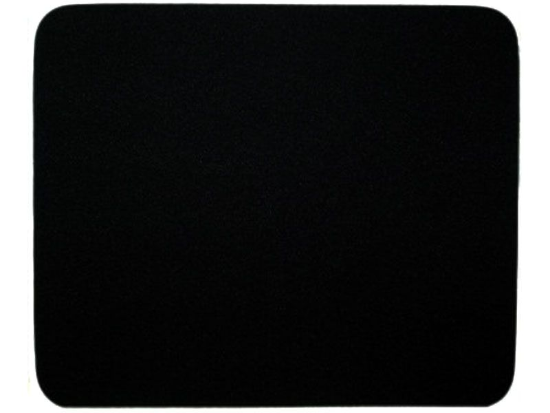 """Black Mouse Pad, 9 3/8"""" x 8"""" Cloth 1/8"""" Thickness Rubber"""