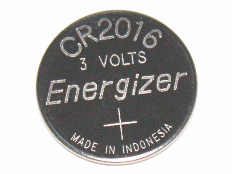 Energizer CR2016 Lithium Coin Cell Battery, Bulk Tray Packaging